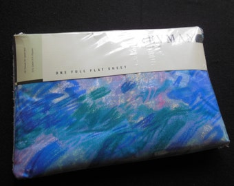 Full Flat Blues Abstract Sheet By Revman, Old Stock, New in Package