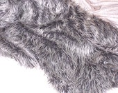 Silver Frosted Mongolian Faux Fur - New Designer Collection ! ! !