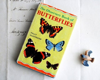 Vintage Butterflies Book, The Observer's Book of Butterflies, Vintage Nature Pocket Book