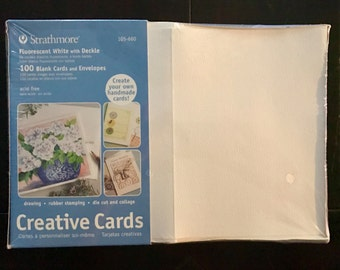 Strathmore Creative Cards pack of 100 - Blank Cards Envelopes for DIY