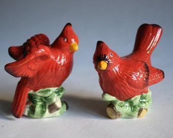 Vintage Cardinal Salt and Pepper Shakers
