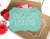Custom Sticker Listing for Samantha