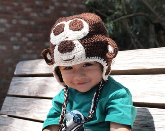 Crochet Monkey Hat for Kids
