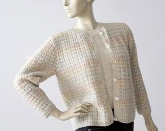 1950s pastel cardigan sweater, vintage cardi