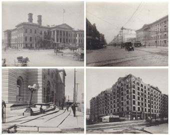 San Francisco Memorabilia - SET of 44, Original c.1906 Earthquake and Fire Photographs, Black & White Photos, Large Gelatin Silver Prints