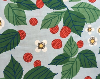 Strawberries, the lovely hunt by lizzy house for Andover Fabrics, 1/2 yd