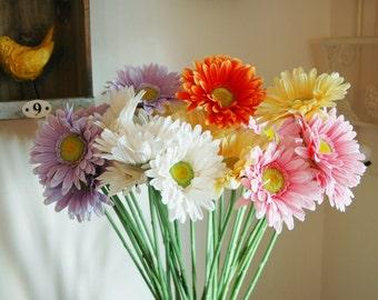 Gerbera Daisy Stems- Vase filler, Gerbera Daisy centerpiece, Flower Stems, Table flower centerpiece, Spring flowers, Summer flowers, Daisy