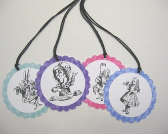 10 Alice in Wonderland Thank You Favor Tags - Thank You Tags - Favor Tags - Mad Hatter Party - Tea Party