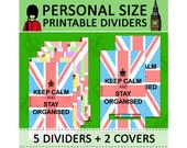 PRINTABLE Personal Size London Dividers With Standard Tabs (Top & Side tabs) for Filofax Kikki.K Planner Organizer Instant Download