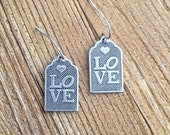 Love Gift Tag Earrings