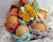 Easter Egg Gift Basket Crochet pattern - Easter egg cozy,gift baskets, Easter decor, crochet egg cozy,egg cover,PDF Pattern - photo tutorial