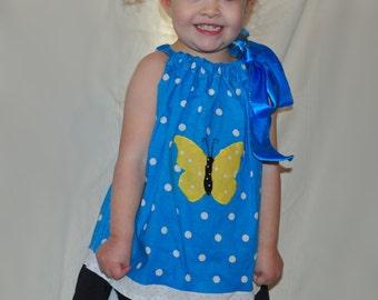 2t 3t girls pillowcase butterfly dress