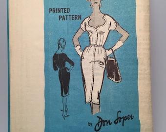 60s Dress - Don Loper - Prominent Designer Pattern -Bust  36 - UNUSED