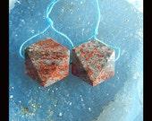 SALE,Ocean Jasper Faceted Earring Bead,20x9mm,12.22g