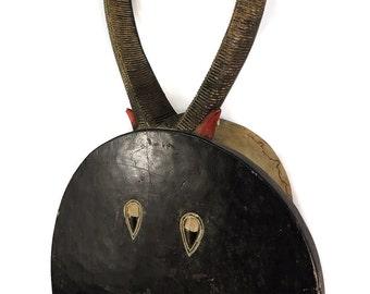 Baule Goli Kplekple Round Horned Mask Ivory Coast African Art 98837