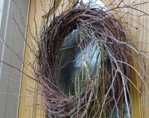 Twig Wreath  Rustic Wreath  Birch Twig Wreath  Door Wreath  Rustic Wedding Decor  Autumn Wreath  Natural Wreath