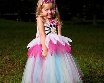 Girls Hello Kitty Inspired Tutu Dress Halloween Costume (Newborn - 5T)