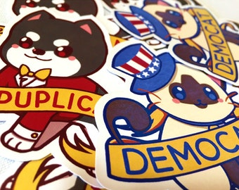 Political Alignment Pun Stickers