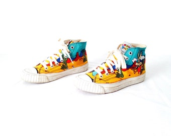 90s RARE vintage LOONEY tunes bugs bunny KEDS oxford flats size 6 7 womens hightop shoes