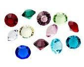 5 Birthstone 5mm Gem crystals BULK Charms for Floating Living Memory Lockets DIY