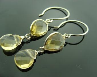 CITRINE Sterling Silver Dangle Earrings