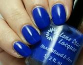 Blue crelly handmade nail polish indie nail polish (Dashing)