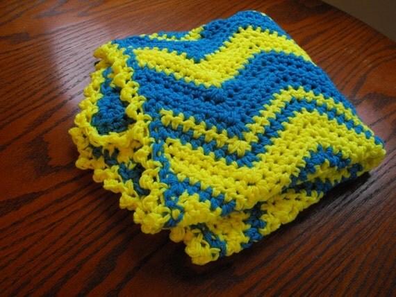 Easy Zig Zag Crochet Baby Blanket Pattern : Items similar to CROCHET PATTERN, Easy Zig Zag Baby ...