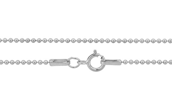 Ball Chain with clasp Sterling Silver 1.2mm 16 Inch  - 25pcs (3101) Neck chain