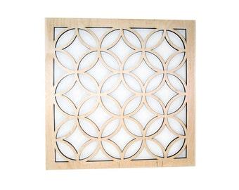Interlocking Circles Diamonds Wall Art - Wood Home Decor