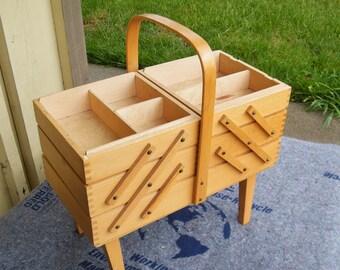 Vintage Sewing Cabinet - Craft Supply Storage - Jewelry Storage Cabinet