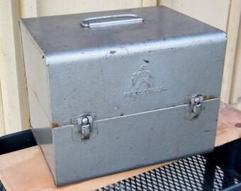 Brumberger Film Case -  12 Film Reel Canisters