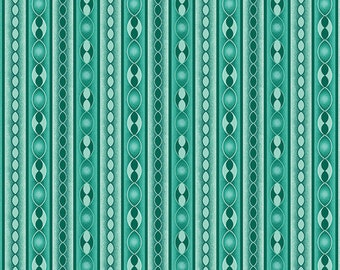 Benartex, Contemporary Prints, Transformations Teal Stripe