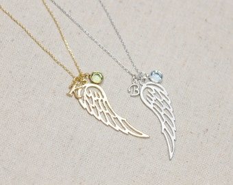 Angel Wing Necklace | Angel Baby Necklace | Memorial | Lost Loved One | Minimalist | Wings | Fly | Best Friends | Mothers Day Gift