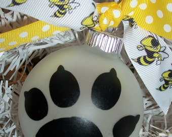 Yellow Jacket Puppy Ornament - FREE SHIPPING