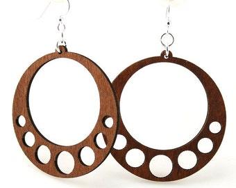 Classic Circle Design -  Wooden Earrings Laser Cut