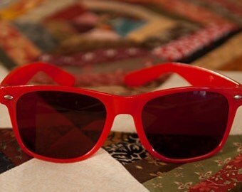 SALE Sew Red Glasses