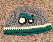 Infant tractor hat.  READY TO SHIP