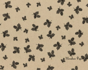 Holly Wrapping Paper - SPS281 - Christmas - Gift Wrap - Kraft Wrap - Table Runner - Scrapbooking - Party Supply