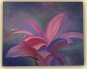 "Original oil painting on canvas ""Lily in the mist"" by Orlika"