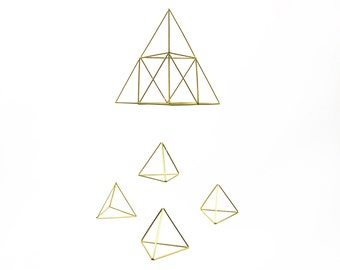 Pyramid Baby Mobile - Scandinavian himmeli sculpture