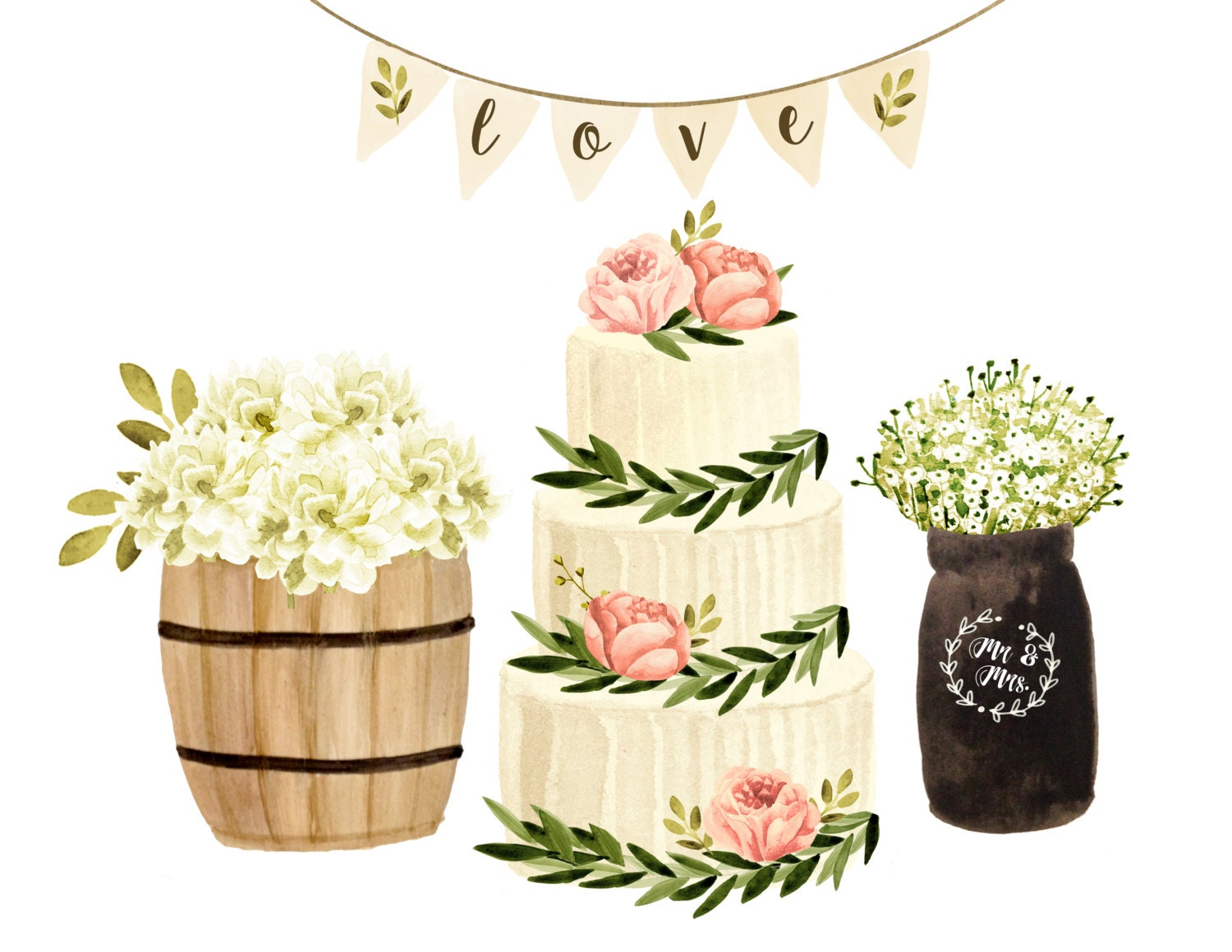 Rustic Wedding Clipart The Image Kid