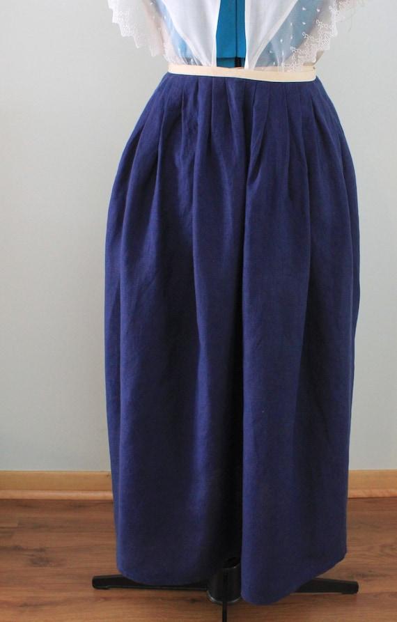 18th century navy blue linen skirt