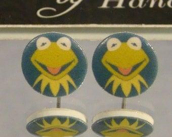 Kermit the Frog Stud Earrings - Muppets earrings