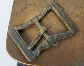 Vintage brass belt buckle, original patina
