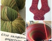Cashmere Blend Custom Socks : Sanguine Gryphon Yarn The Gold Bug Colorway Wool Socks - Custom Size made out of MCN