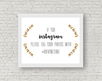 Instagram Hashtag Sign // Printable PDF