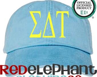 Sigma Delta Tau Hat, Monogrammed Baseball Cap, Personalized Baseball Hat, Sorority Gift, Embroidered Ball Cap, Monogrammed Baseball Hat