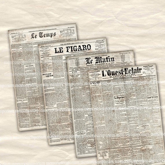 Image result for newspaper french clipart without background