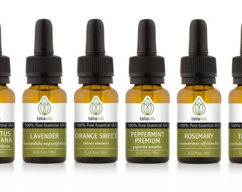 TOP - QUALITY Essential Oils Set 6/10 Ml - 100% Pure, Therapeutic Grade, for Aromatherapy Gift Collection