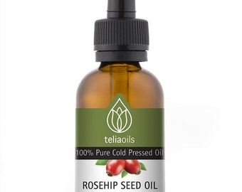 Rosehip Seed Oil - 100% Pure Cold Pressed, Virgin. Anti Aging Product Face, Hair and Wrinkles, 2. fl. oz/ 60 ml
